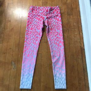 ALO Yoga Pink and Gray Leggings Medium